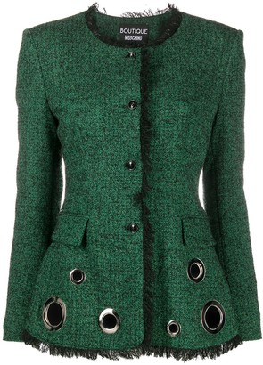 Boutique Moschino Eyelet Detail Jacket