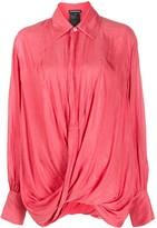 Ann Demeulemeester smocked twist shirt