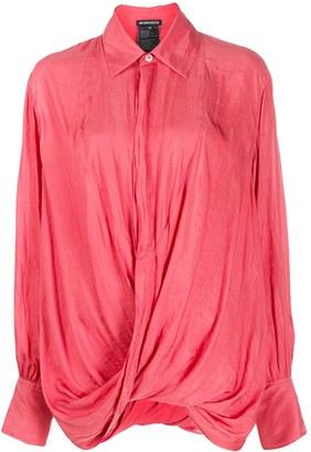 Ann Demeulemeester Smocked Twist Shirt