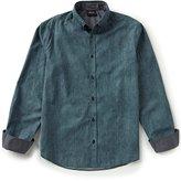 Armani Exchange Armani Jeans Poplin Print Long-Sleeve Woven Shirt