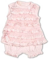 Biscotti Wrapped in Ruffles Dress and Bloomer Set (Infant) (Pink) - Apparel