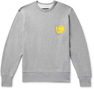 Rag & Bone Printed Melange Loopback Cotton-Jersey Sweatshirt