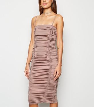 New Look AX Paris Ruched Midi Dress