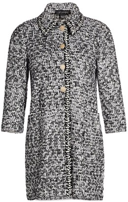 St. John Statement Tweed Side Slit Jacket