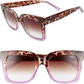 Quay Icy 58mm Ombre Sunglasses