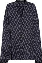 Haider Ackermann Beauregard oversized printed satin shirt