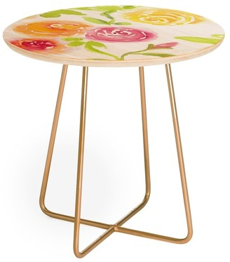 Deny Designs Laura Trevey Candy Colored Blooms Round Side Table
