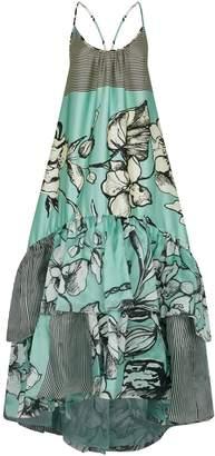 Silvia Tcherassi Floral Ruffle Dress