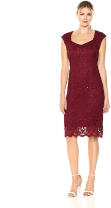 Tiana B T I A N A B. Women's Sweetheart Neck Sequin Lace Dress
