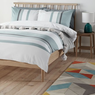 John Lewis & Partners Textured and Decorative Scandi Felix Duvet Cover Set, Mineral