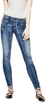 GUESS Letitia Mid-Rise Skinny Jeans in Passionate Blue Wash