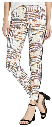 Lisette L Montreal Aruba Print Pull-On Ankle Pants with Side Stripe (Navy) Women's Casual Pants