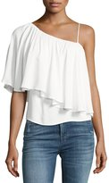 Ella Moss One-Shoulder Popover Blouse, White