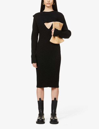 Bottega Veneta Cut out-detailed knitted midi dress