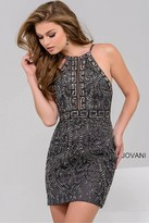 Jovani Embellished Halter Short Dress 47177