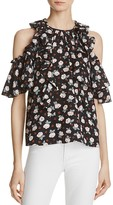 Rebecca Taylor Rosalie Cold-Shoulder Silk Top