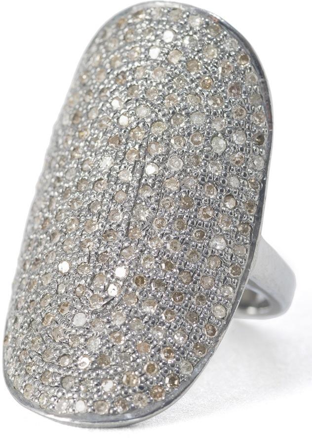 Black Diamond Lera Jewels Curved Oval Ring