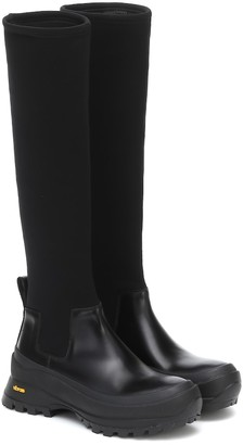 Jil Sander Neoprene knee-high boots