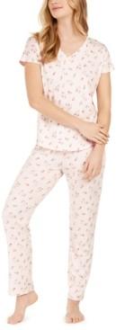 Flora by Flora Nikrooz Floral-Print Knit Pajama Set