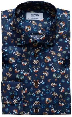 Eton Contemporary-Fit Floral Dress Shirt