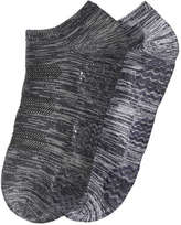 Joe Fresh Women's 2 Pack Yoga Socks, Charcoal (Size 9-11)