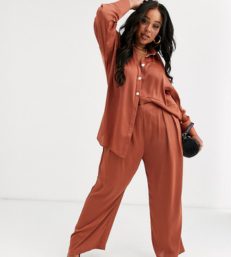 Native Youth Plus high waist wide leg trousers co-ord