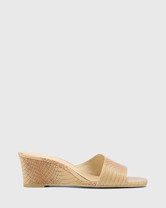 Wittner - Women's Neutrals Sandals - Delaney Leather Wedge Heel Slides - Size One Size, 37 at The Iconic