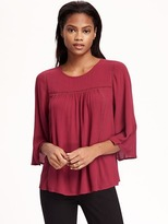 Old Navy Shirred Swing Blouse for Women
