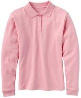 Chaps Girls 4-6x Picot-Trim School Uniform Polo