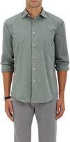 Hartford Men's Cotton Poplin Shirt-GREEN