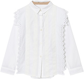 Burberry White Larcy Lace Top