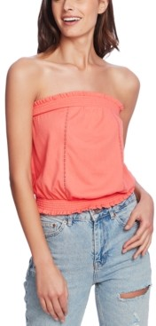 1 STATE Strapless Lace-Inset Top