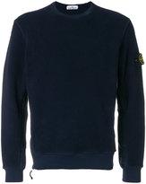 Stone Island long sleeved zip detail sweater
