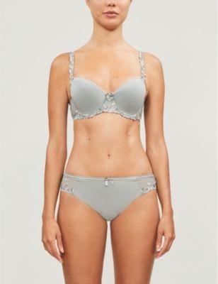 Simone Perele Andora 3D spacer embroidered stretch-jersey bra