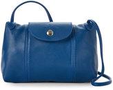 Longchamp Blue Le Pliage Cuir Crossbody