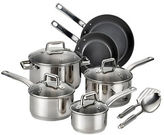 T-Fal Precision Stainless Steel Ceramic 12pc Set