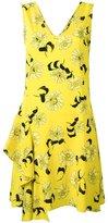 P.A.R.O.S.H. Split floral print dress - women - Silk/Spandex/Elastane - S