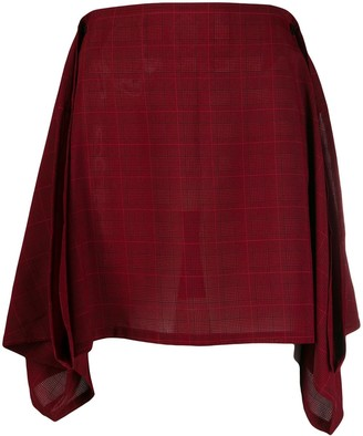 Jean Paul Gaultier Pre Owned Plaid skirt