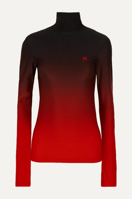 Kwaidan Editions Printed Ombre Stretch-jersey Top - Red