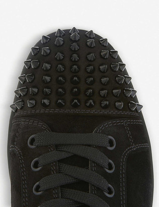 Christian Louboutin Louis spikes flat suede