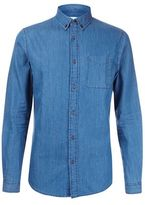 Burton Mens Mid Wash Long Sleeve Denim Shirt