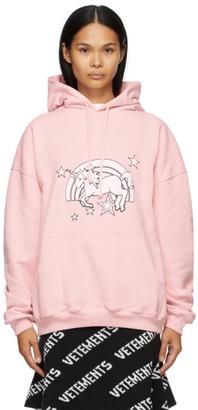 Vetements Pink Magic Unicorn Hoodie