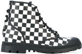 Givenchy checkerboard boots - men - Calf Leather/Leather/rubber - 40