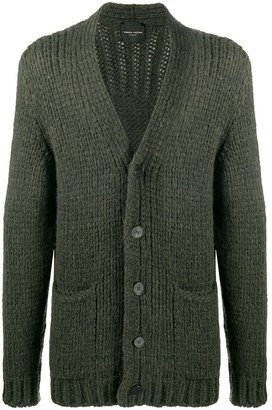 Roberto Collina Chunky-Knit Button-Up Cardigan