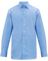 Emma Willis - Curved Hem Cotton Shirt - Mens - Blue