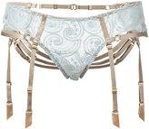 Bordelle suspenders lace briefs - women - Polyamide/Polyethylene/Spandex/Elastane - L