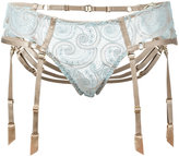 Bordelle suspenders lace briefs - women - Polyamide/Polyethylene/Spandex/Elastane - M