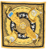 Hermes Casques Plumets Silk Scarf