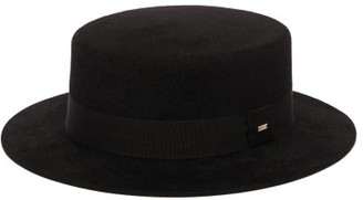 Saint Laurent Felt Boater Hat - Black