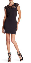 Just For Wraps Lace Ponte Bodycon Dress